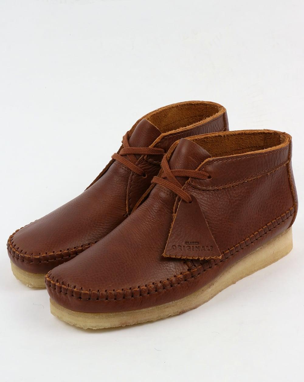 Clarks Originals Weaver Boot Tan Leather Wallabee Crepe