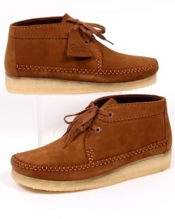 Clarks Originals Weaver Boots Cola Suede