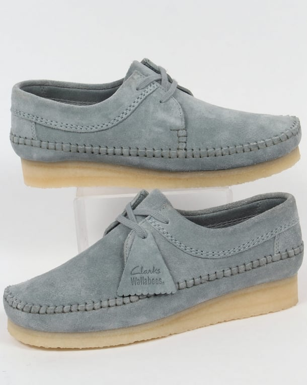 Clarks Originals Weaver Shoes Blue Grey