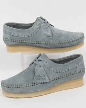 Clarks Originals Weaver Shoes Blue Grey