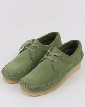 Clarks Originals Weaver Shoes Cactus Green