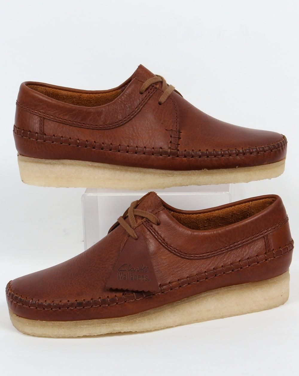 Clarks Originals Weaver Shoes Tan Leather