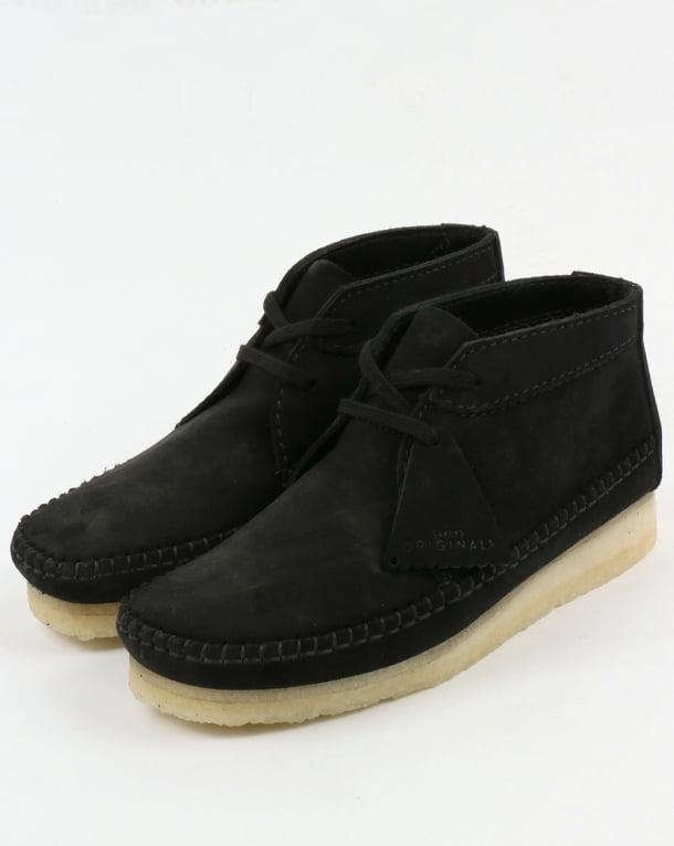 Clarks Originals Weaver Suede Boot Black