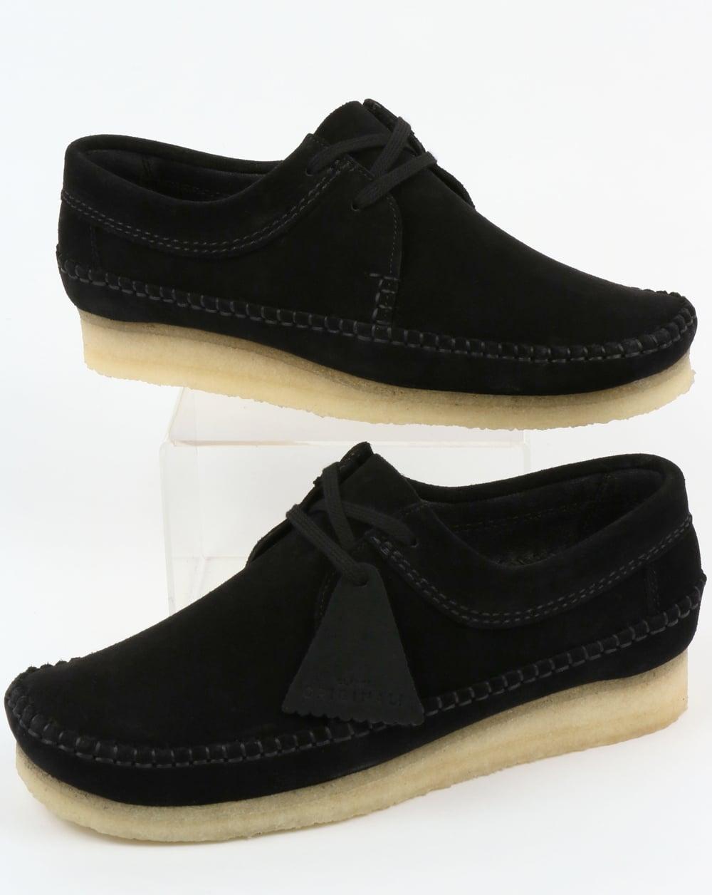 diversified latest designs amazing selection beautiful design Clarks Originals Weaver Suede Shoes Black