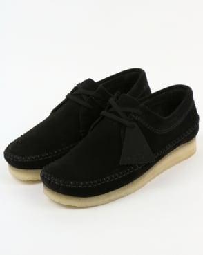 Clarks Originals Weaver Suede Shoes Black