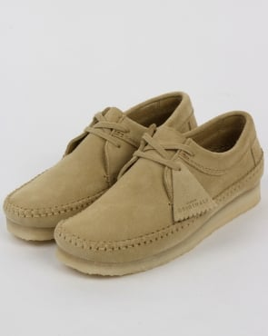 Clarks Originals Weaver Suede Shoes Maple
