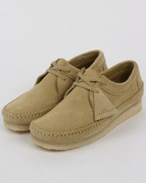 Clarks Originals Weaver Suede Shoes Maple
