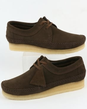 Clarks Originals Weaver Suede Shoes Peat