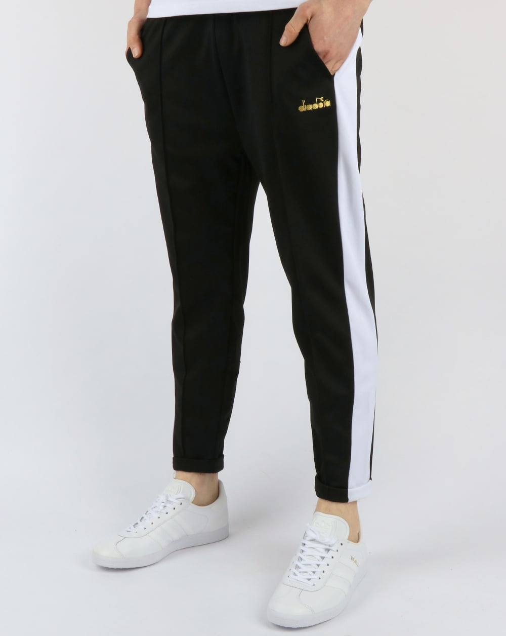 1a4964b0c Diadora 80s Cropped Track Pants Black,tracksuit,bottoms,shiny,mens