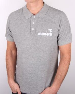 Diadora 80s Polo Shirt Grey Melange