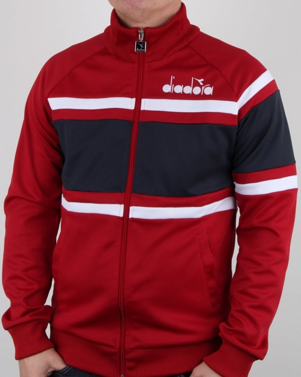 Diadora 80s Track Top Red/Blue