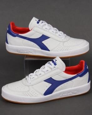 Diadora B. Elite Italia Trainers White/Clematis Blue