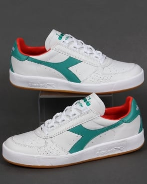 Diadora B. Elite Italia Trainers White/Porcelain Green