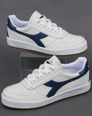Diadora B. Elite L Trainers White/Navy - Gum