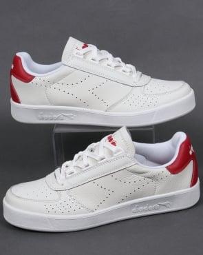 Diadora B. Elite Premium L Trainers White/Red