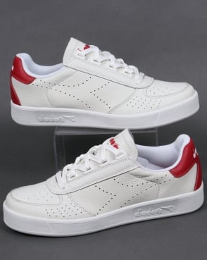 Diadora B. Elite Premium L Trainers White/Red
