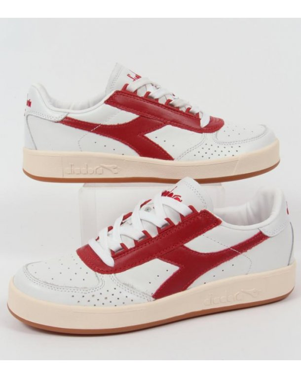 Diadora B. Elite Premium Trainers White/Red