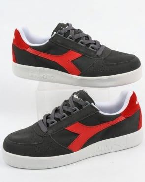Diadora B. Elite Suede Trainers Castle Rock/Fiery Red