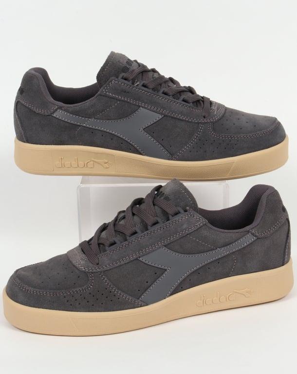 Diadora B. Elite Suede Trainers Steel Grey