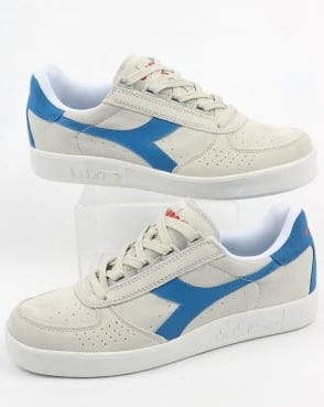 Diadora B. Elite Suede Trainers White/royal/red