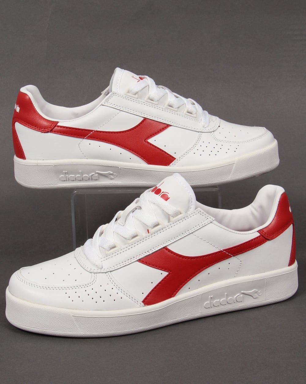 2fb82ab9 Diadora B. Elite Trainers III White/red leather