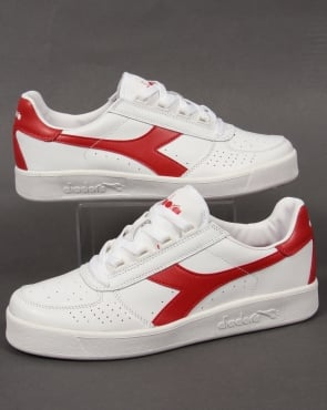 Diadora B. Elite Trainers III White/red leather