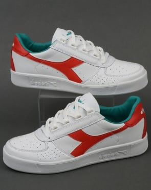 Diadora B. Elite Trainers White/Fiesta Red
