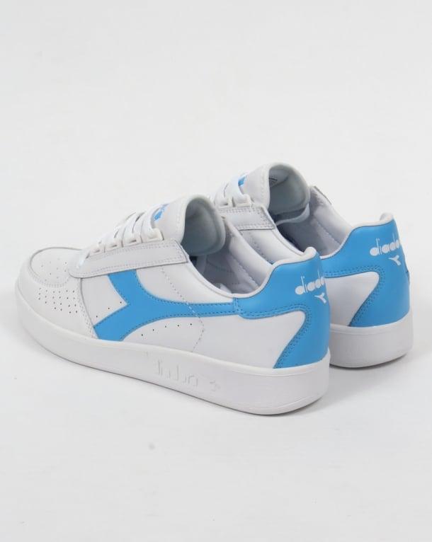 Whitebonnie classic retro borg Diadora Elite B Blue Trainers qtOwt