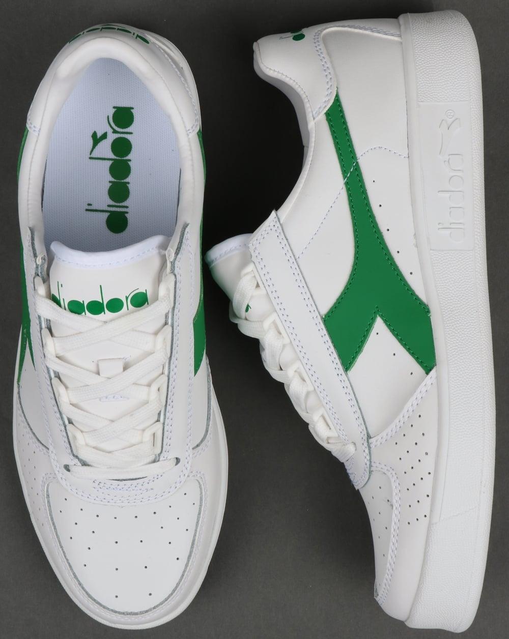 Diadora Borg Elite Trainers White/Green
