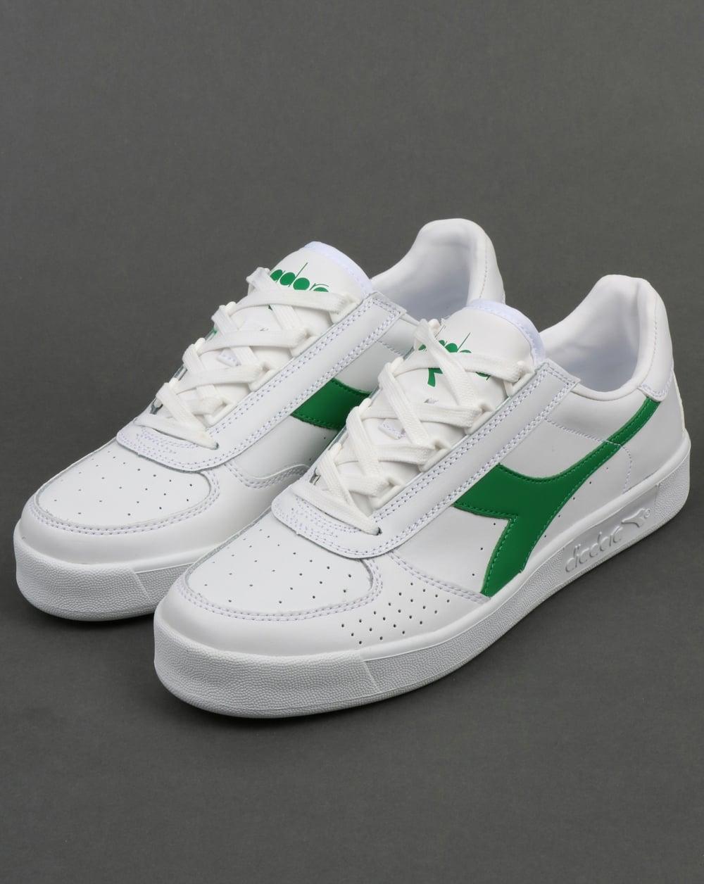 f3bdc75ed7 Diadora B. Elite Trainers White/White/Green