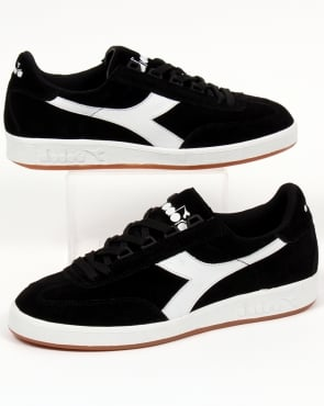 Diadora B Original Suede Trainers Black/white Gum
