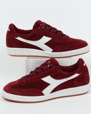 Diadora B Original Suede Trainers Tibetan Red
