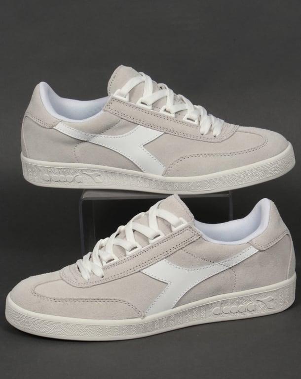 Diadora B Original Suede Trainers White/White
