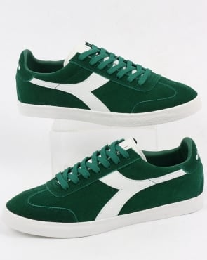 Diadora B Original VLZ Trainers Posy Green/White