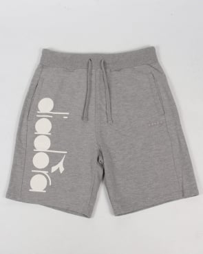 Diadora Bermuda Sweat Shorts Grey Melange