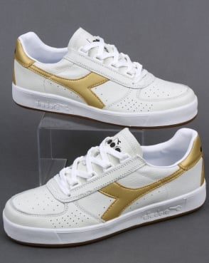 Diadora Borg Elite L Trainers White/Gold
