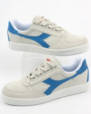 Diadora Borg Elite Suede Trainers White/Royal/Red