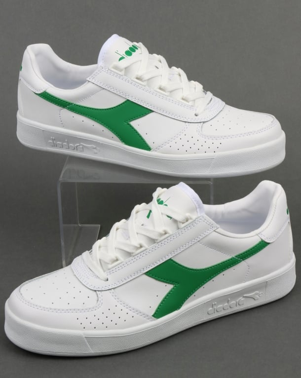 Diadora Borg Elite Trainers White/White/Green