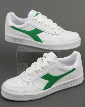 Diadora Borg Elite Trainers White/White/Green