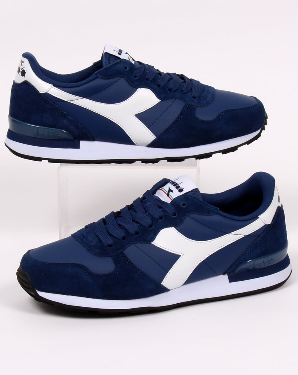 975a4d5a Diadora Camaro Leather Trainers Navy/white