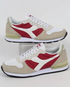 Diadora Camaro Trainers Red Bud/White