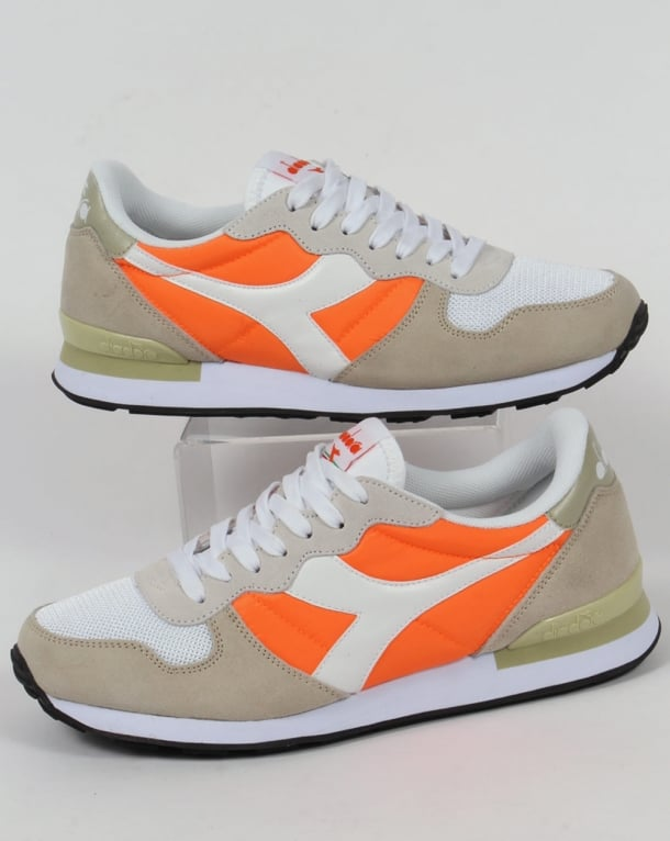 Diadora Camaro Trainers Vermillion Orange/White