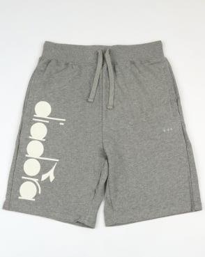 Diadora Fleece Shorts Light Grey