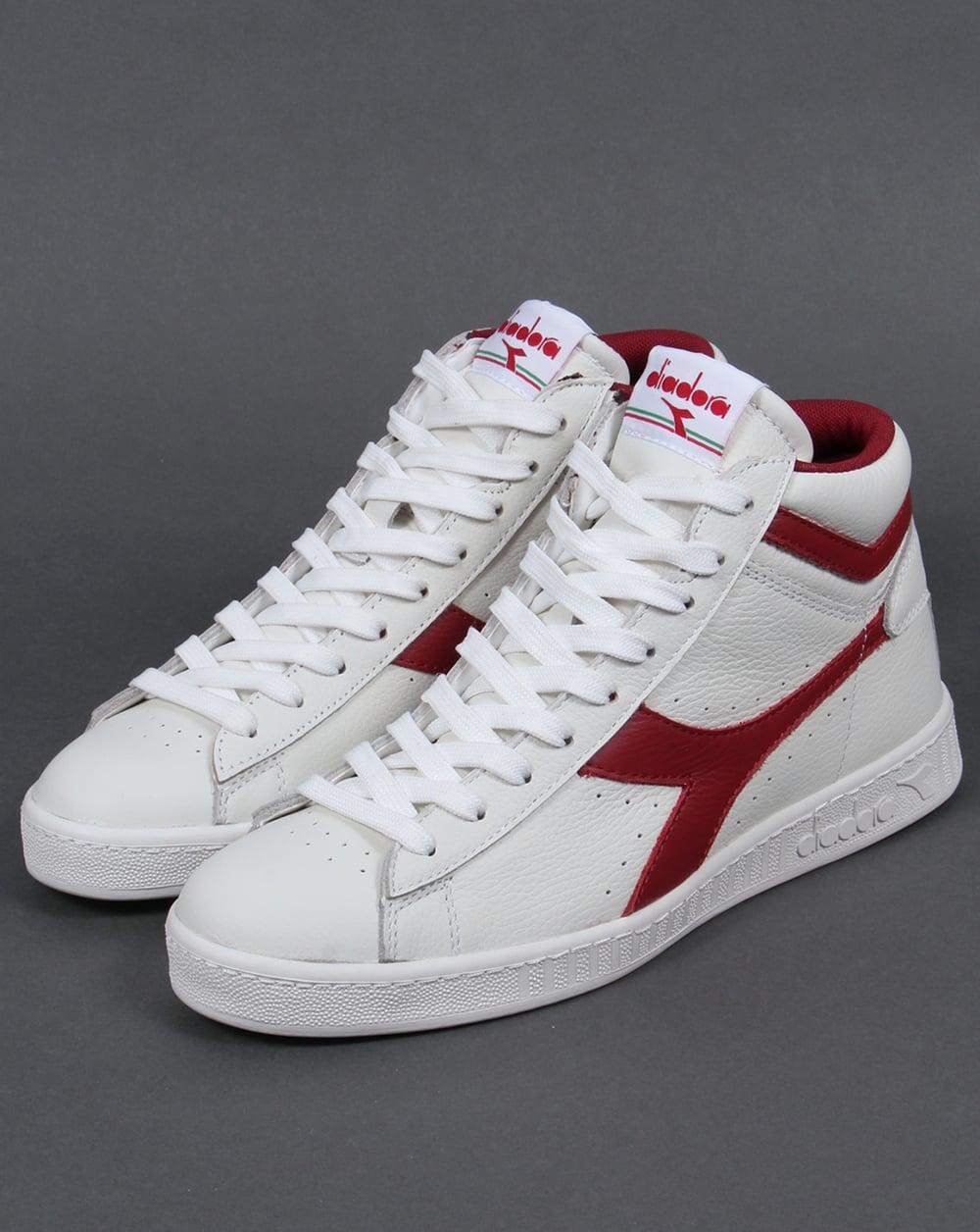 Diadora GAME - High-top trainers - white/red pepper qAZQXhufu