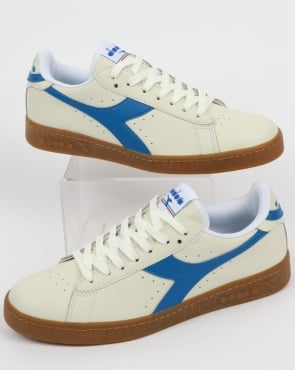 Diadora Game L Low Trainers White/Imperial Blue