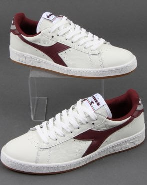 Diadora Game L Low Trainers White/port
