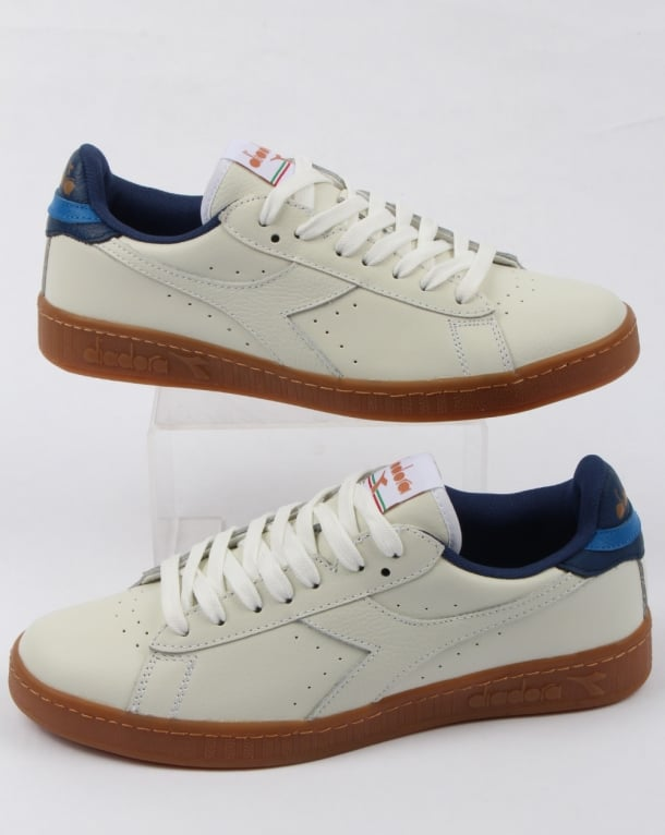 Diadora Game L Low Trainers White/saltire Navy