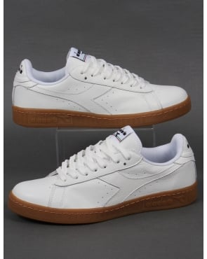 Diadora Game L Low Waxed Trainers White/Gum