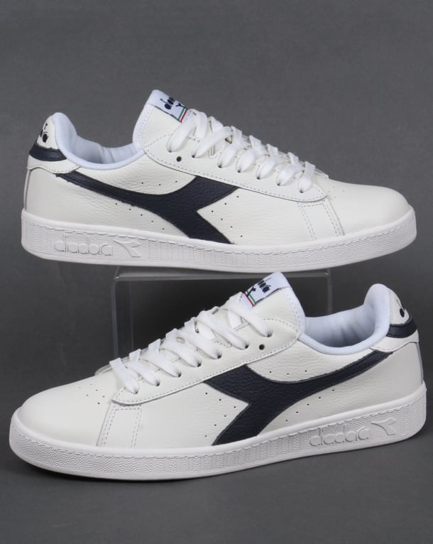 Diadora Game L Low Waxed Trainers White/navy