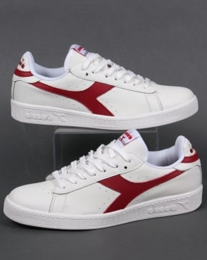 Diadora Game L Low Waxed Trainers White/red